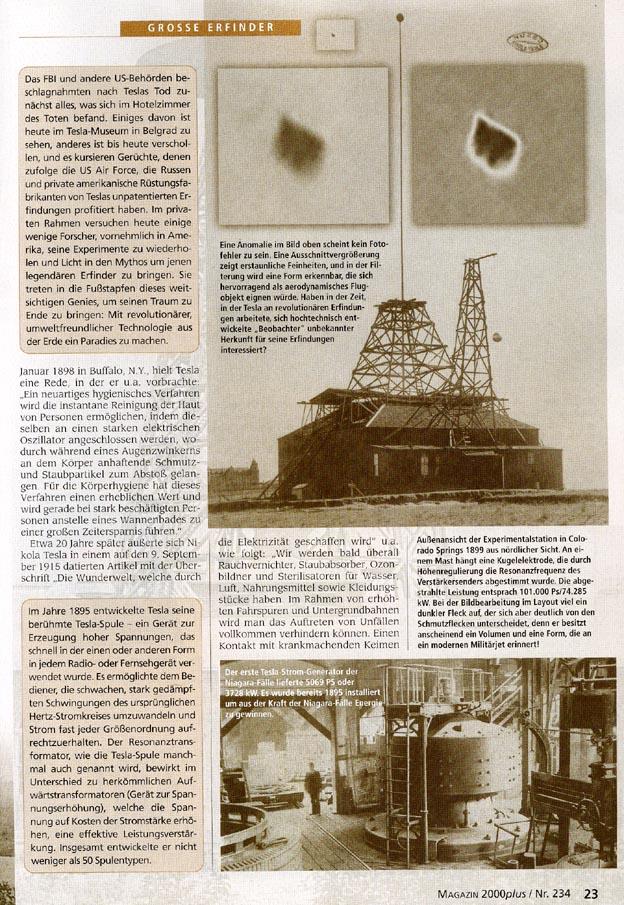 Tesla Im Deutschen Magazin 2000 Plus
